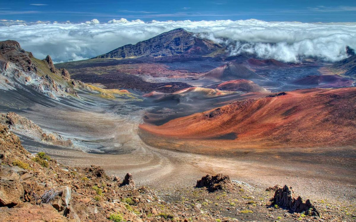 Explore Maui volcano at Haleakala National Park, Hawaii
