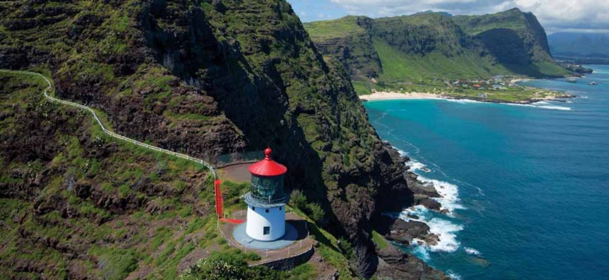 Makapuu Lighthouse Trail on Honolulu, Oahu, USA