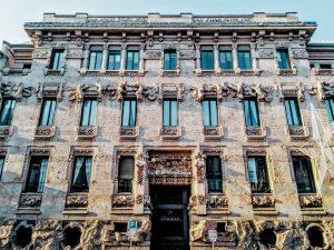 Art Nouveau, Palazzo Castiglioni, Milan, Italy