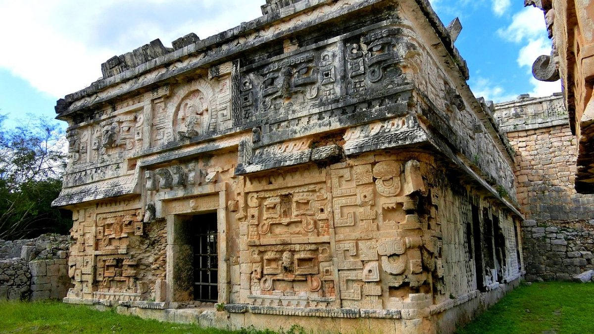 Inscriptions on Mayan ruins at Chichen Itza, Mexico