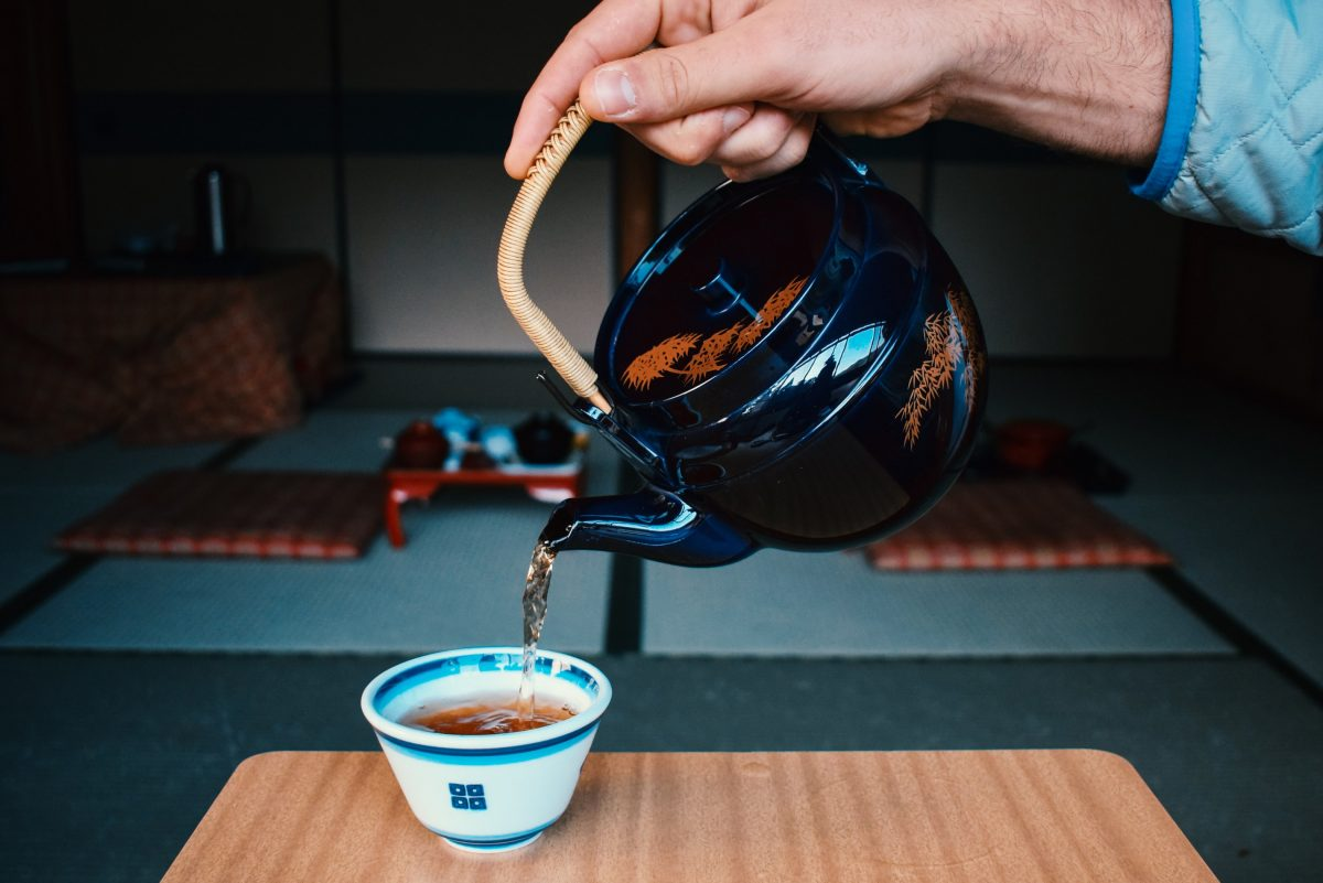 Preparing a traditional Japanese Tea Ceremony