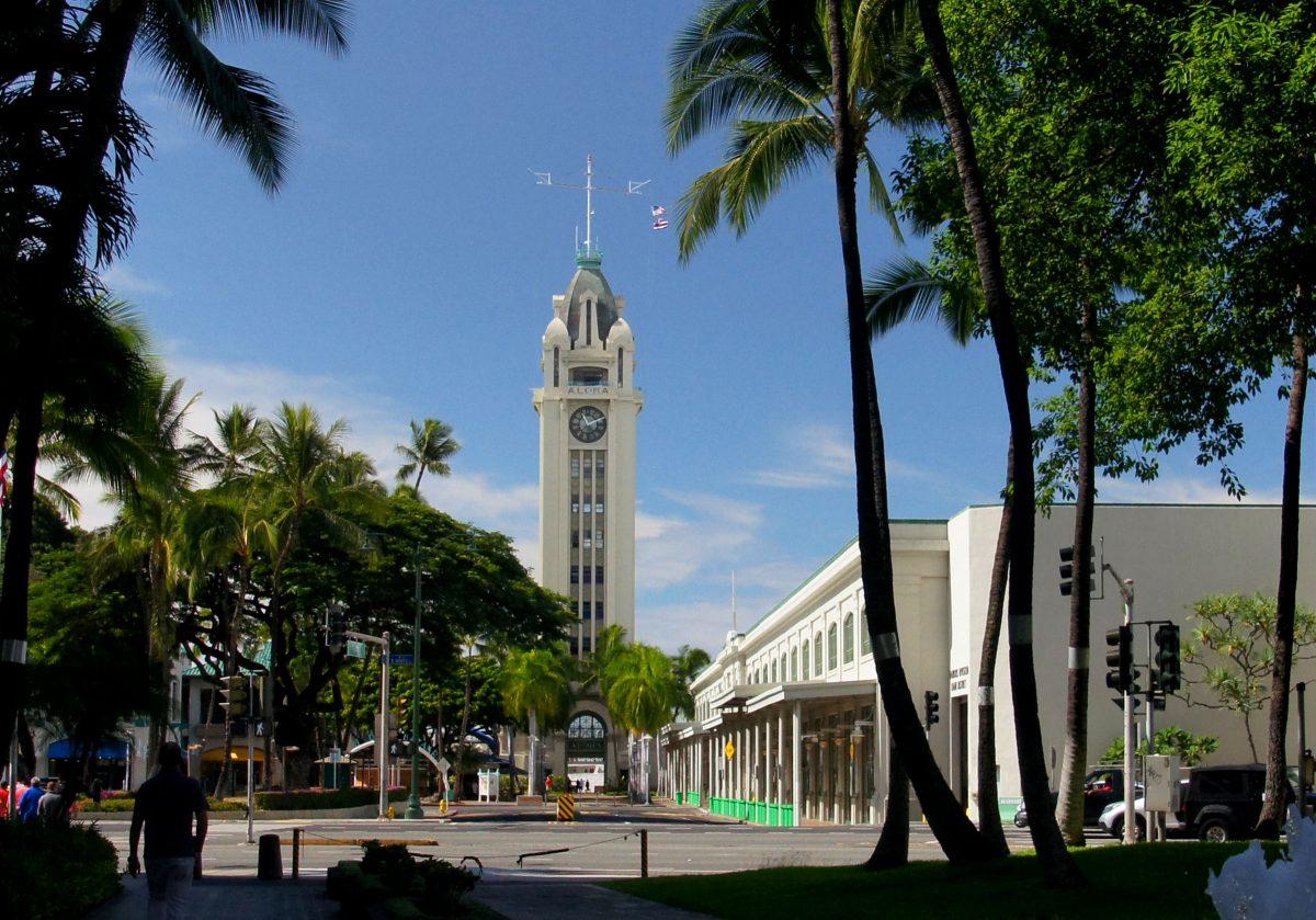 Aloha tower, Honolulu, Hawaii, USA