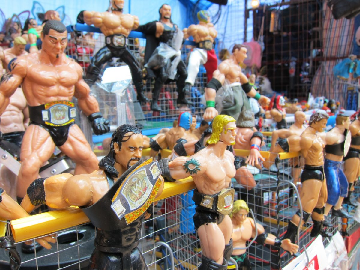 Lucha Libre AAA Mexican Wresting collectibles in Cancun.