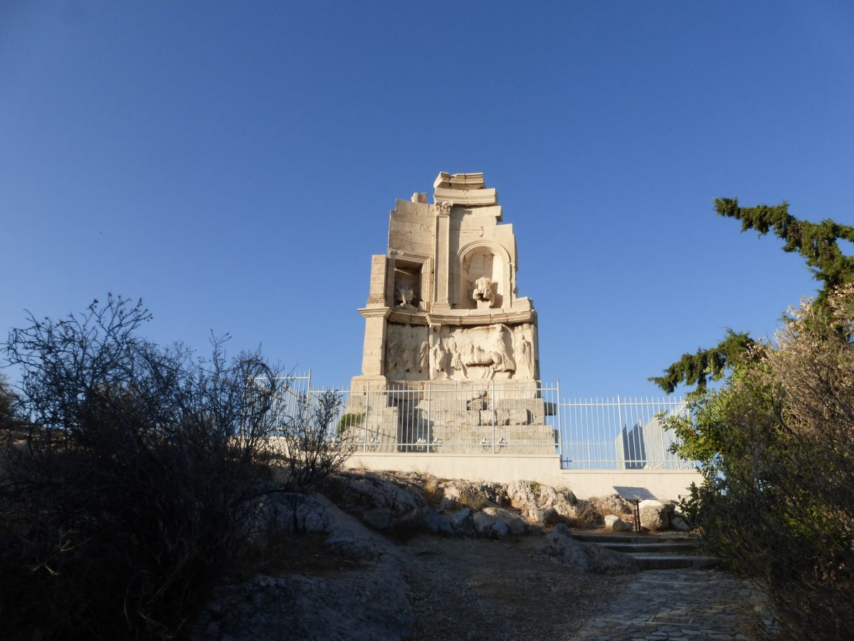 Philopappou monument on Philoappou hills, Athens, Greece