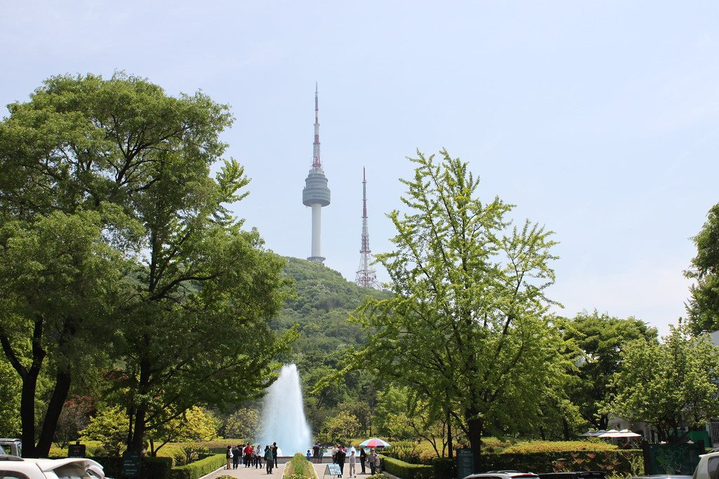 Namsan Park with Seoul Tower