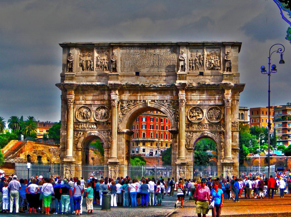 Arco di Costantino in Rome, Italy