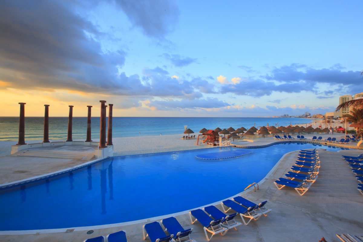 The Hotel Zone in Cancun is laced with luxury resorts.