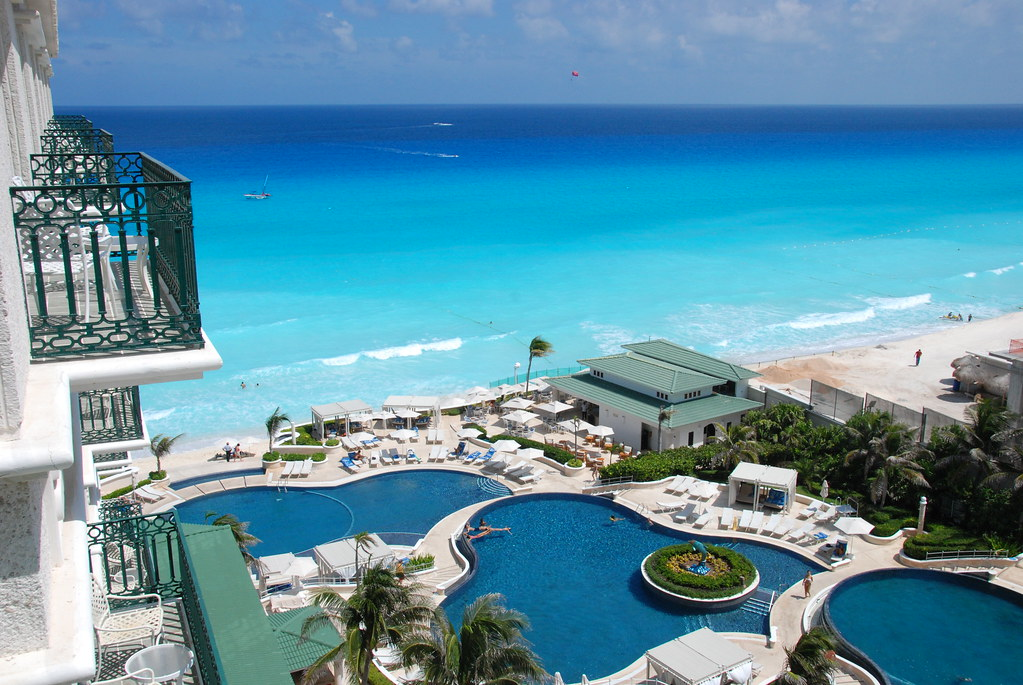 A stunning view from a Resort room in Cancun's Hotel Zone