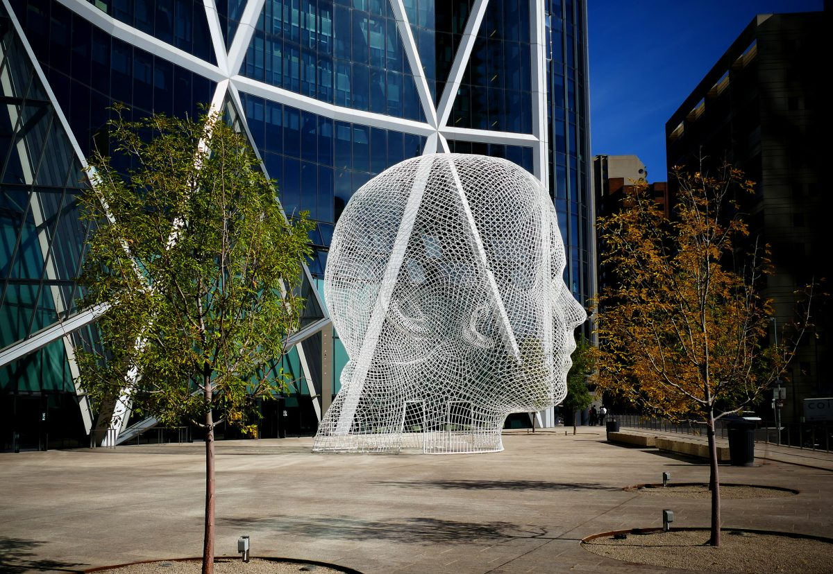 Wonderland Sculpture at The Bow in Downtown Calgary