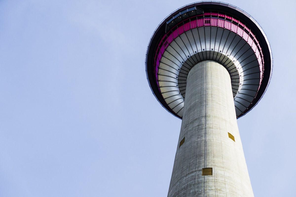 A view of Calgary Tower before the ascend.