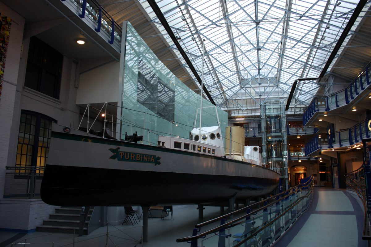 Ship exhibit at the Discovery Museum in Newcastle