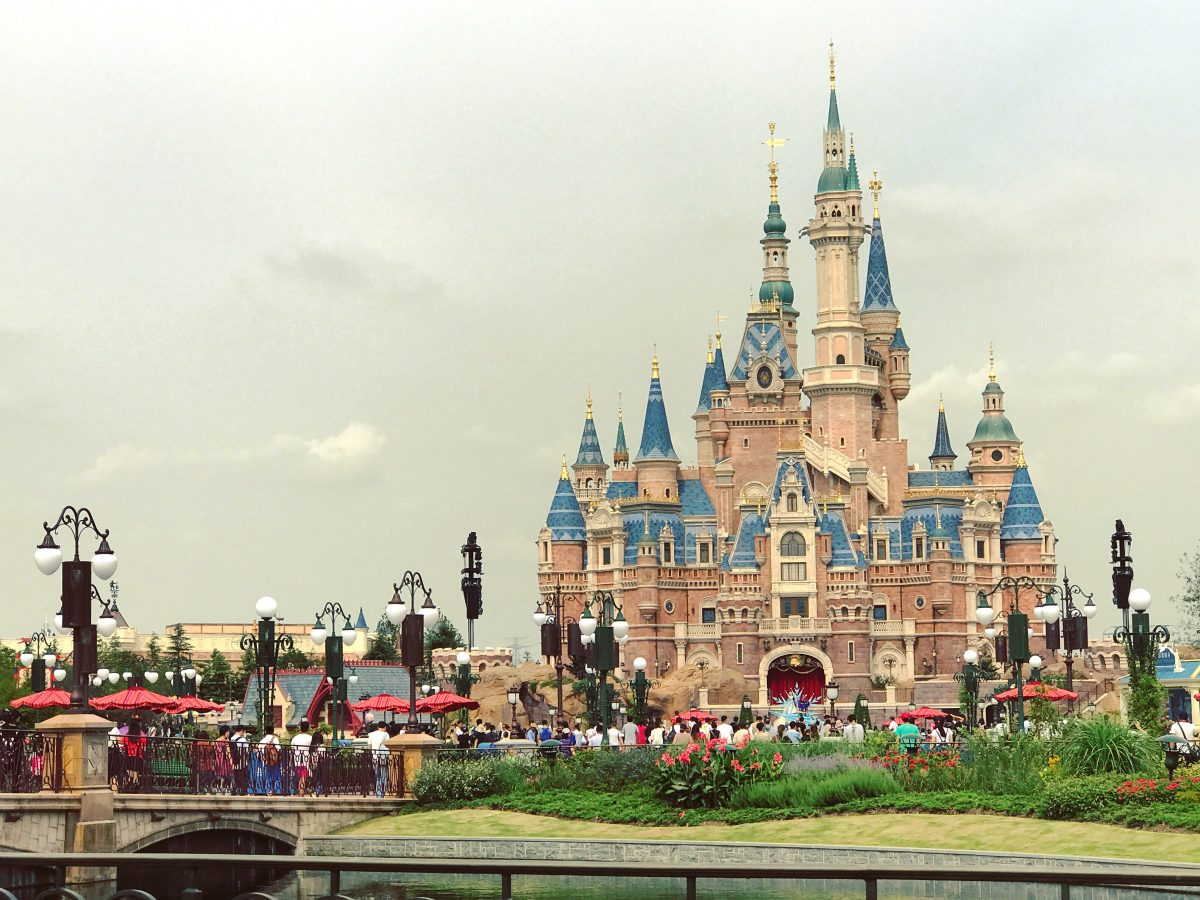 Awesome view of the Storybook Castle, the largest castle in a Disneyland theme park