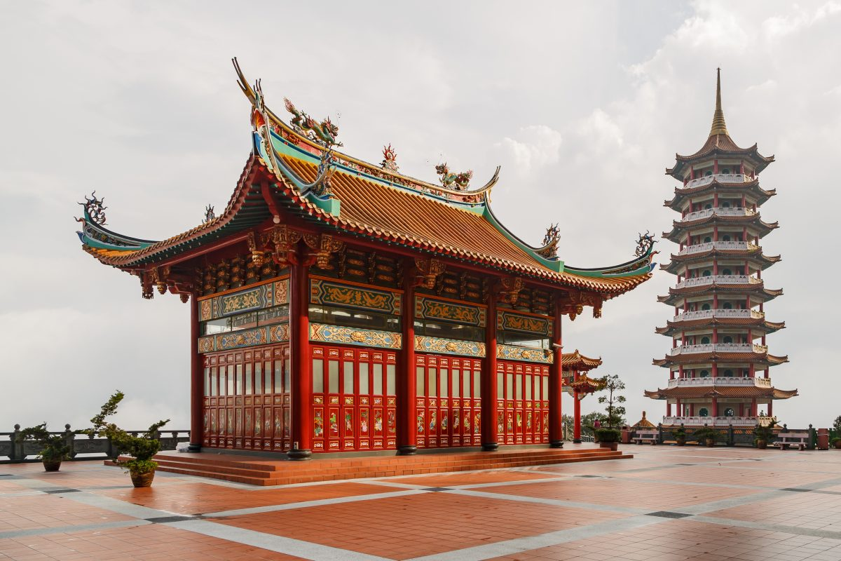 9 stories pagoda Chinese temple at Genting Higlands Malaysia