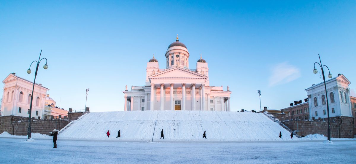 Pure white Helsinki Cathedral