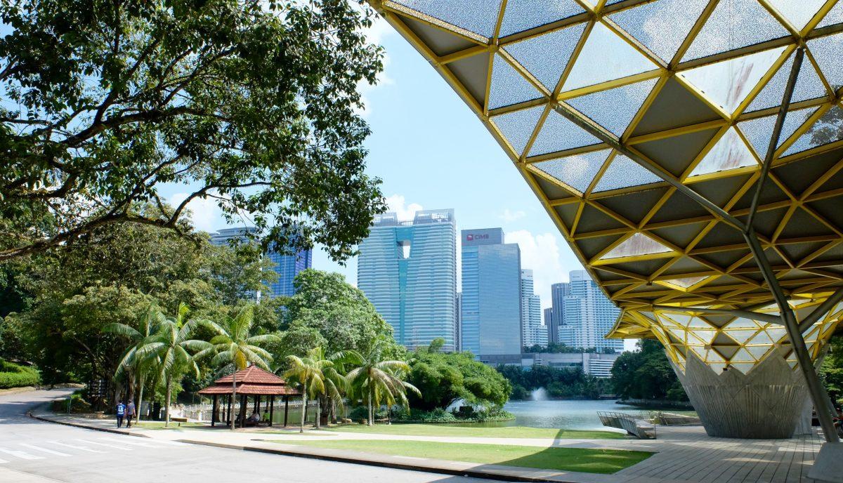 Golden roof park at Lake Gardens KL