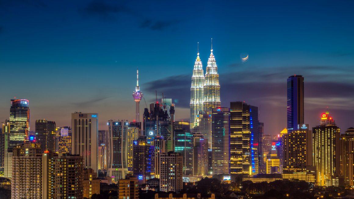 Kuala Lumpur KLCC Night City Skyline