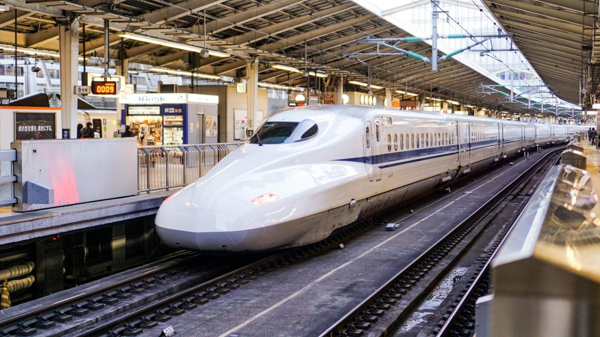Bullet train from Tokyo to Kyoto
