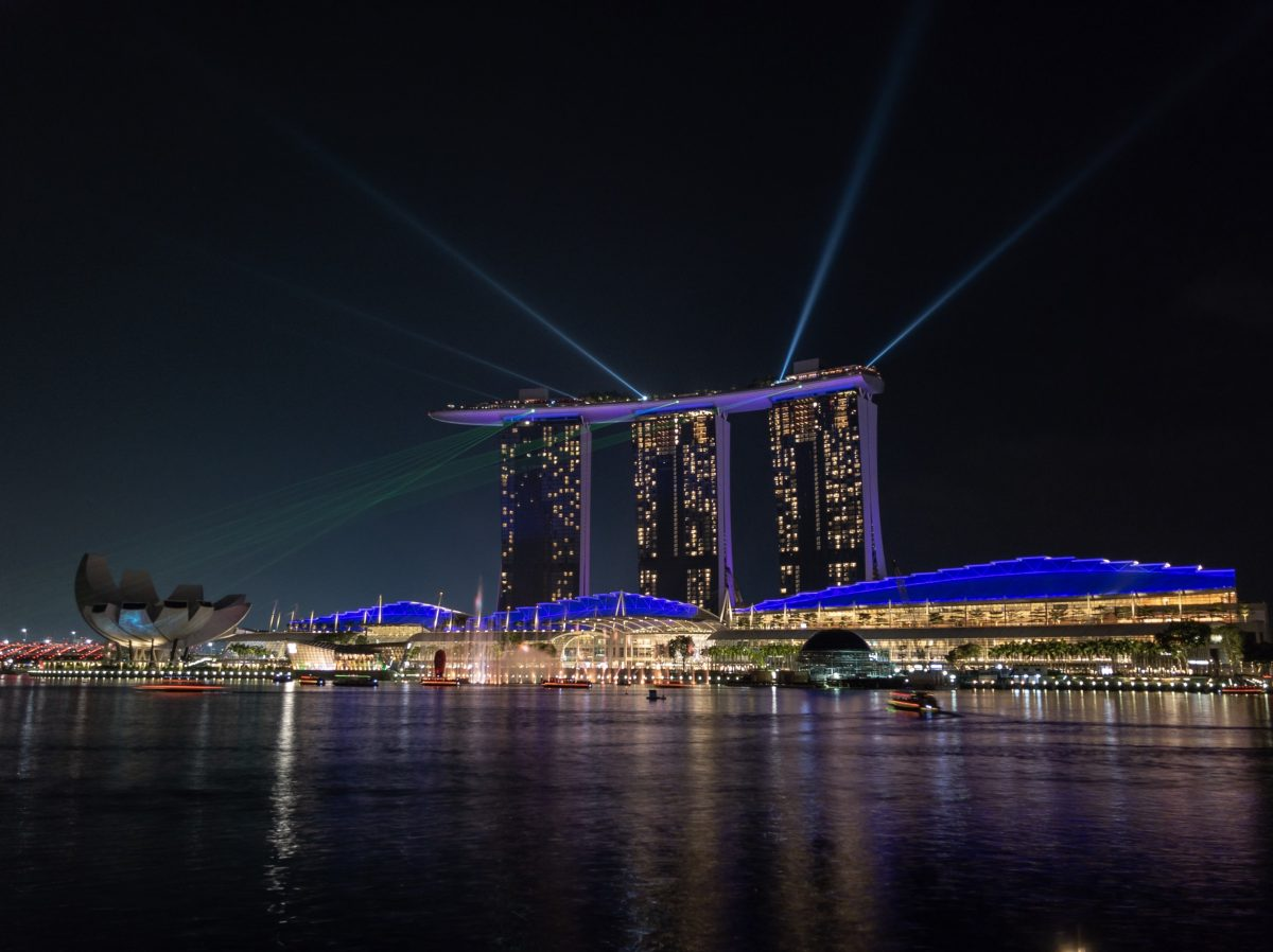 Spectra light show at Marina Bay Sands, Singapore
