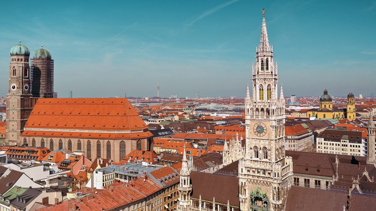 The Peterskirche (Old Peter) Tower also offers panoramic views of Munich and on a clear day to the Bavarian Alps