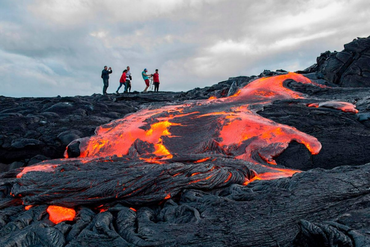 Hawaiian volcano trail