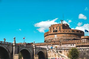 The beautiful Castle St Angelo in Rome, Italy