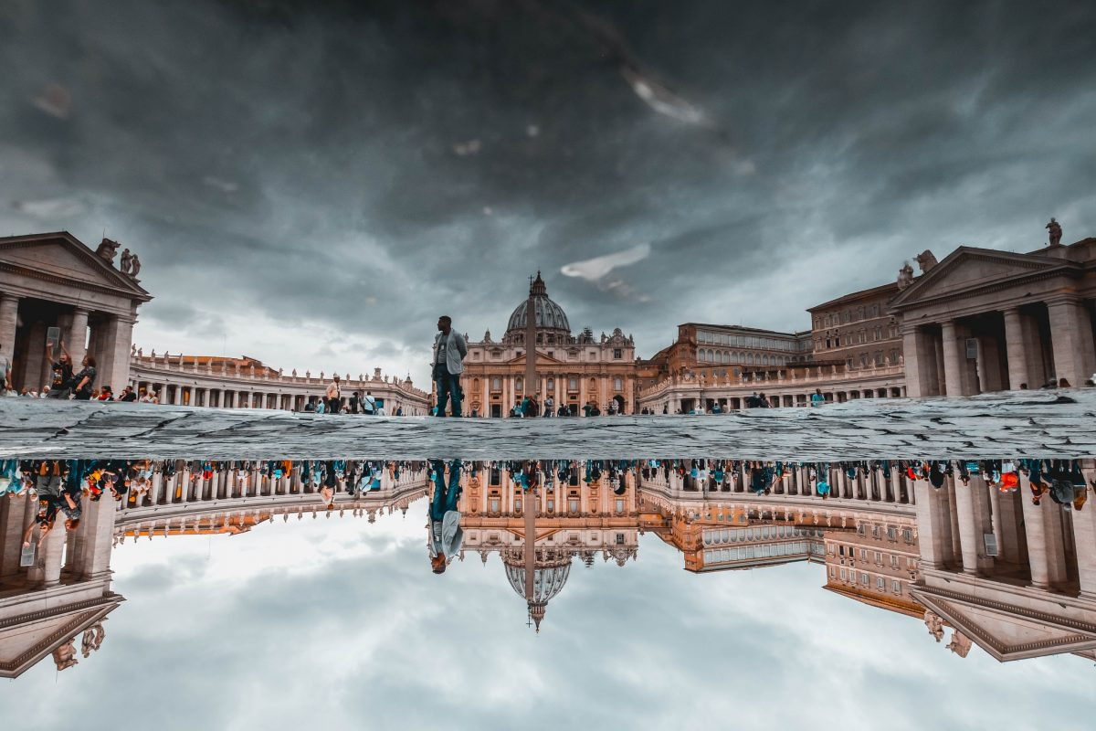 St.Peter's Basilica at day in Rome, Italy