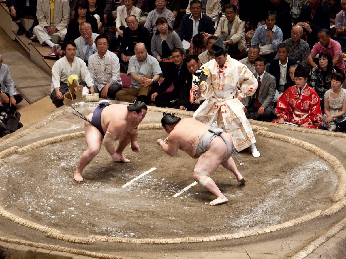 Sumo Town in Tokyo, Japan
