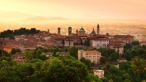 Bergamo Old Town, Città Alta, Lombardy, Milan, Italy