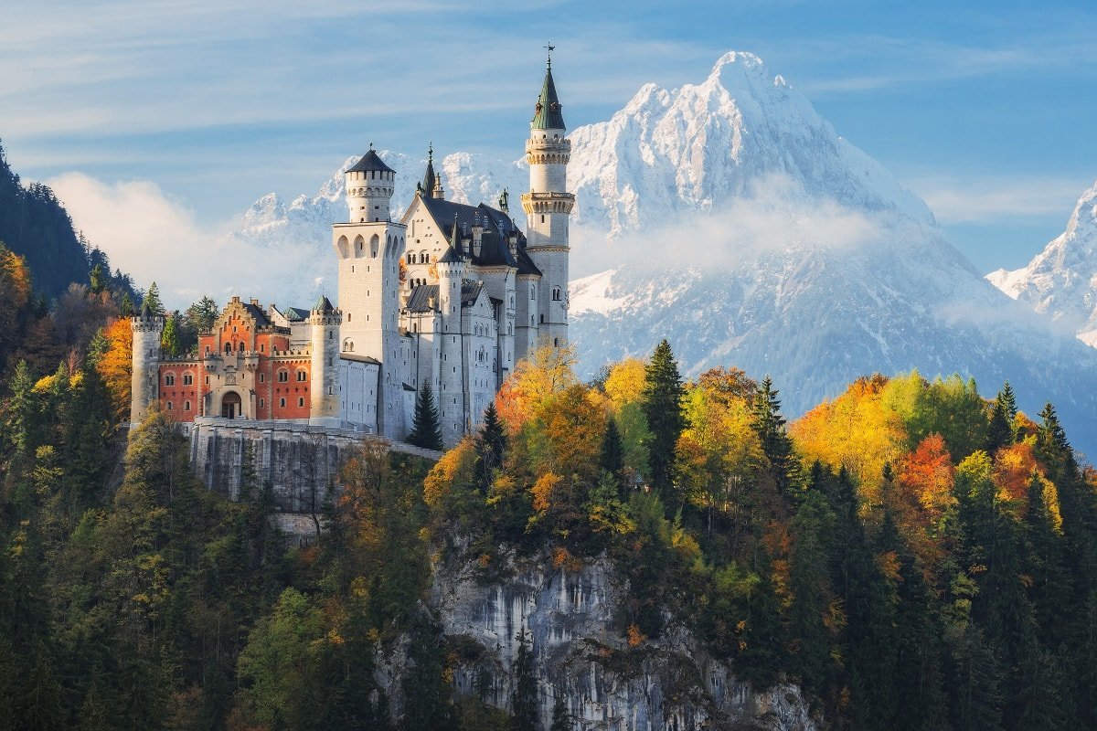 Take a day trip from Munich to Neuschwanstein Castle to see the magical white, fairytale castle