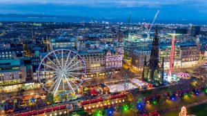 Beauty of Edinburgh during Christmas
