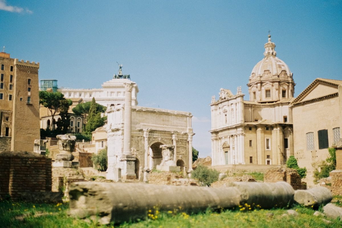 The ruins of Roman forum in Rome, Italy