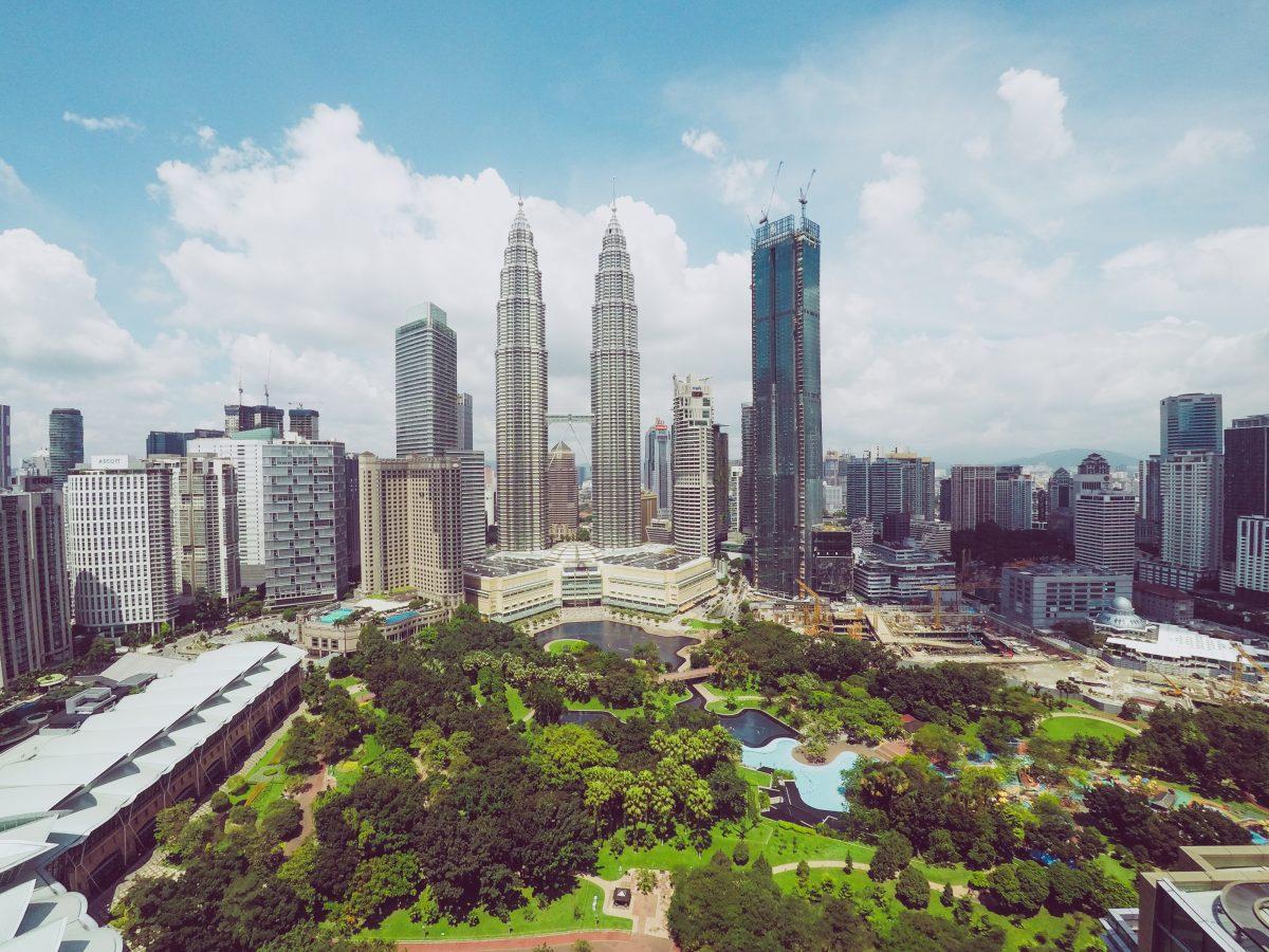 Kuala Lumpur clear skyline daytime