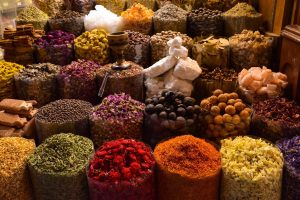 The spices in Spice Bazaar, Istanbul