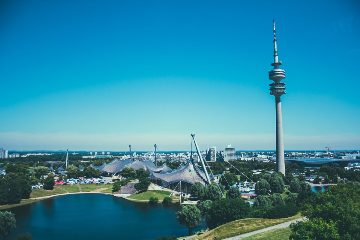 The Olympiapark is an urban park and area since 1972 when it was built to host the Olympics