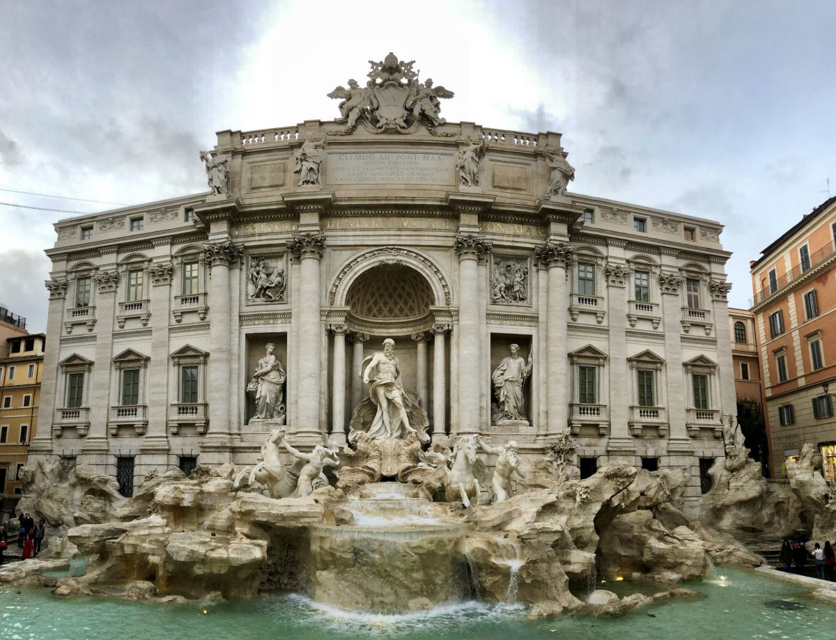 The beautiful Trevi fountain in Rome, Italy