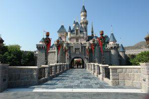 Castle in Hong Kong Disneyland.
