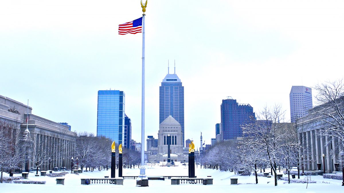 Winter in Downtown Indianapolis