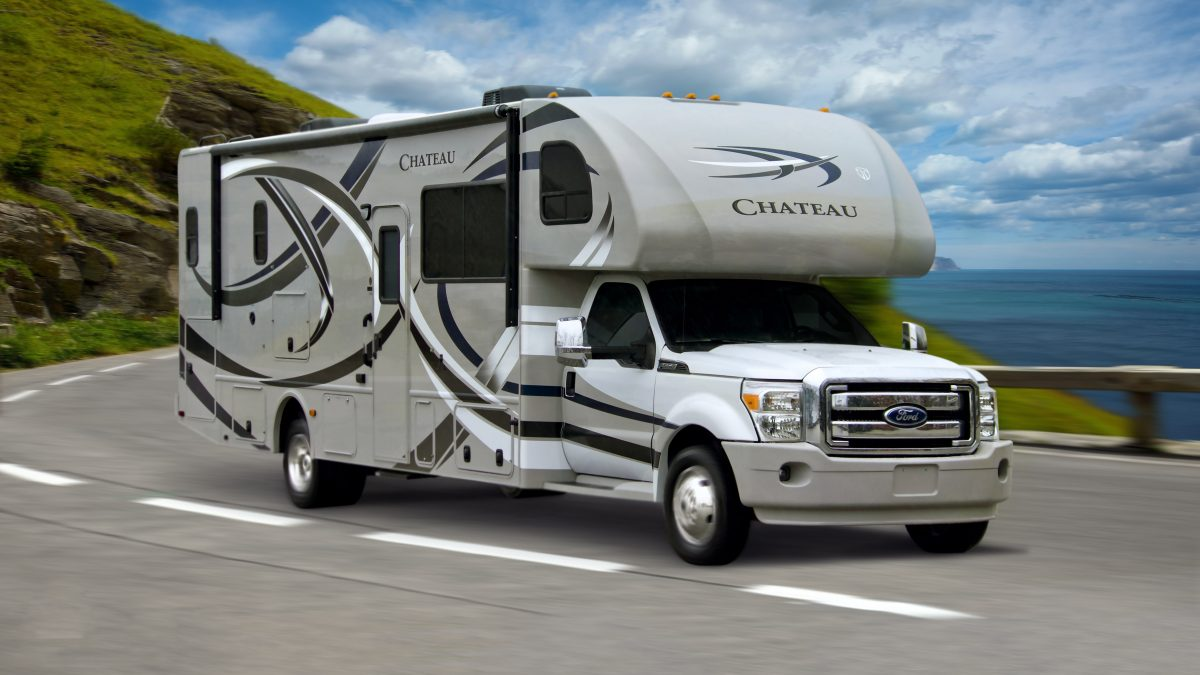 An RV Motorhome on a highway