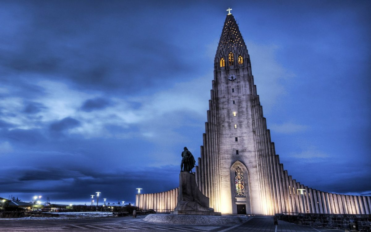 Hallgrimskirkja, the largest church in Reykjavik, dominates the city with its majestic height, making it easy to spot from just about anywhere