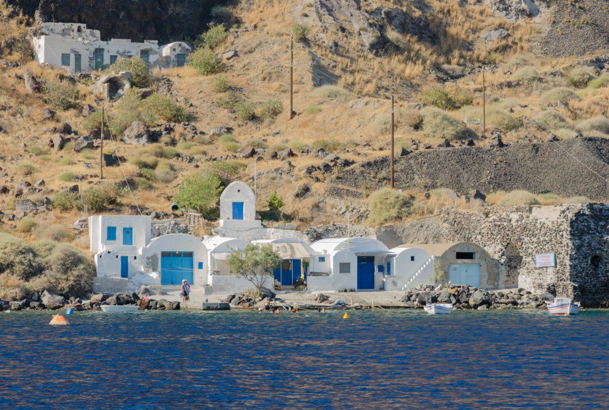 Thirassia Island, Santorini, Greece