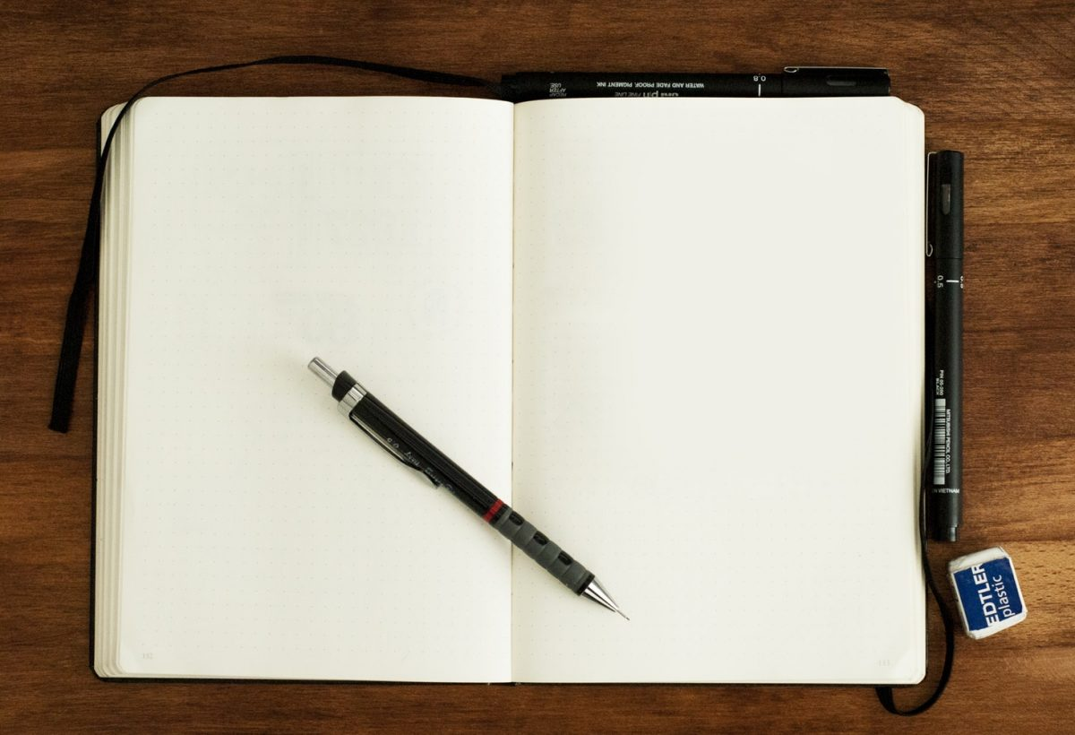 Always carry a notebook to pen your thoughts