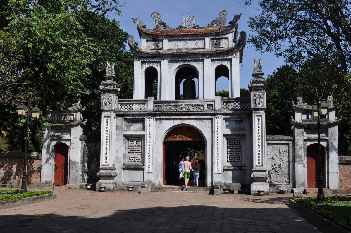 Vietnamese-chinese confucius temple of Literature in Hanoi
