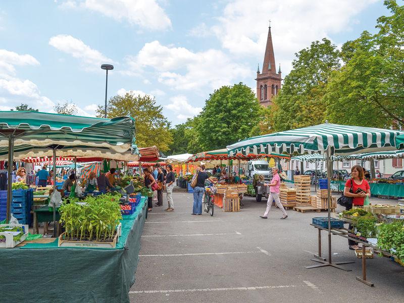 Farmers market in Frankfurt