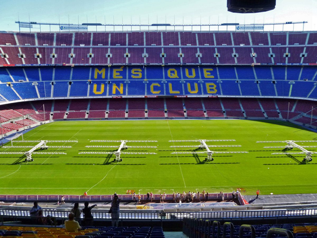 Simple picture of Barcelona's Camp Nou