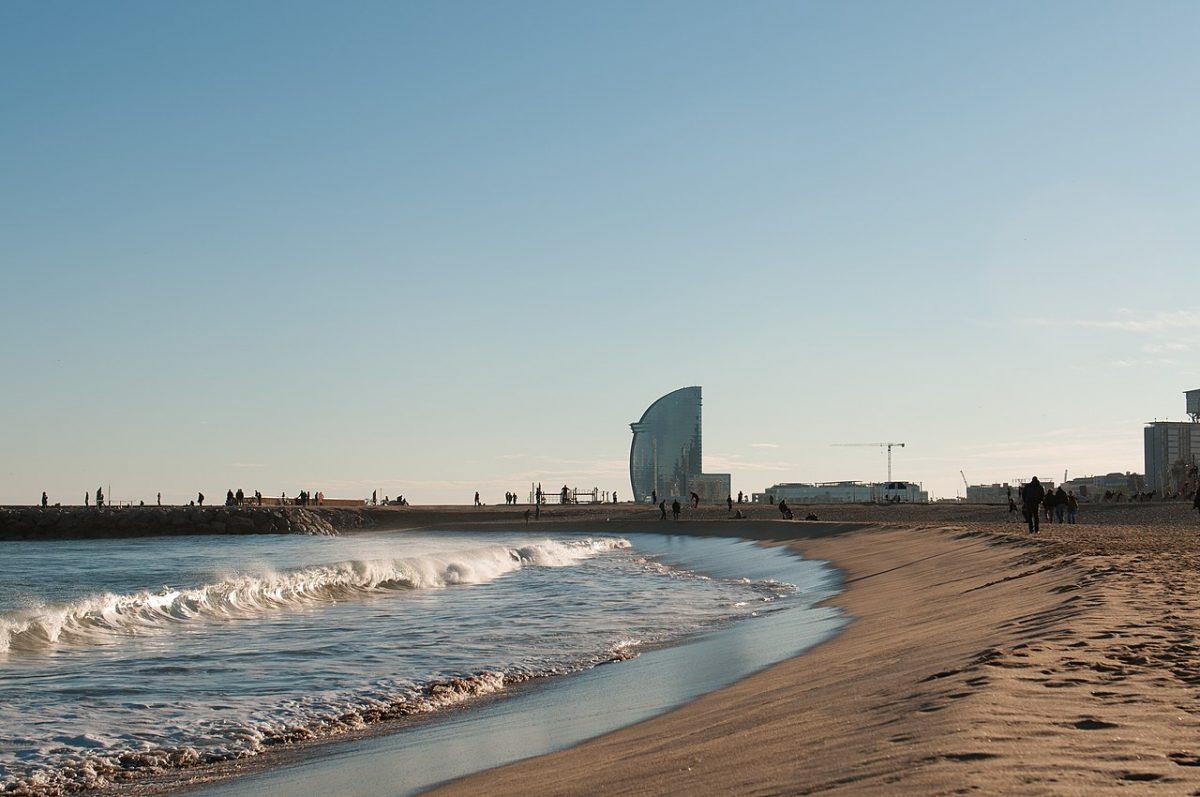 Scenic view of Barcelona beach