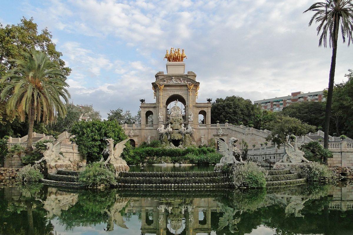 Inspiring view at Parc de la Ciutadella