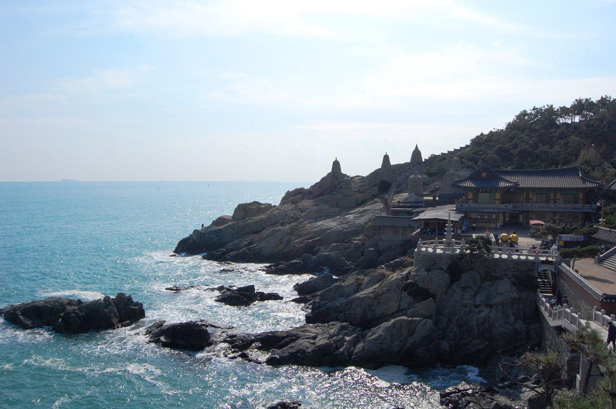 A Buddhist temple by the seaside