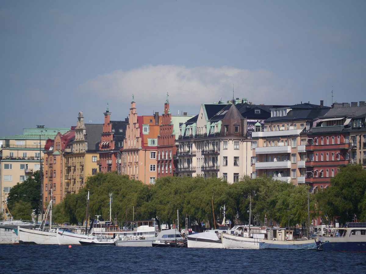 Kungsholmen, scenic view of ocean waters, boats and lovely buildings on the residential island