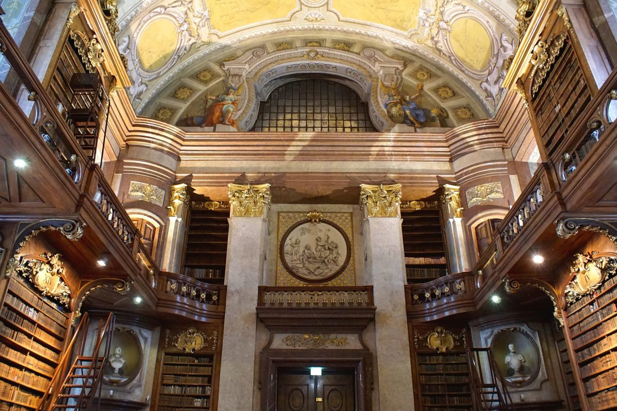 The Austrian National Library is the largest library in Austria collecting a total of more than 12 million items