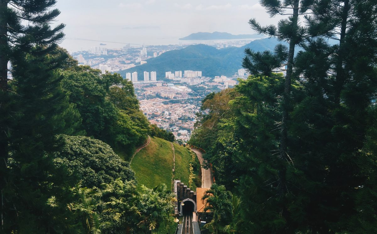 The tram ride up Penang Hill promises a stunning panoramic view of George Town
